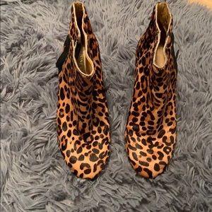 Nine West Leopard booties